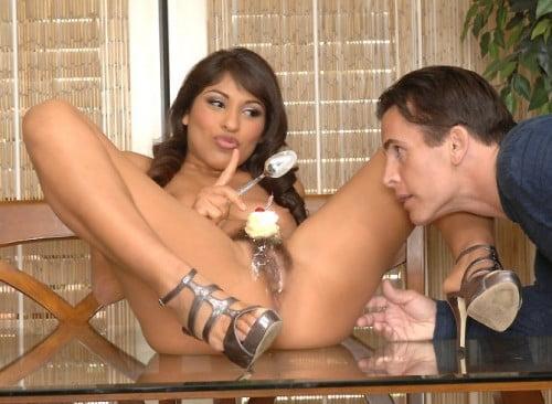 ice cream licking on pussy porn